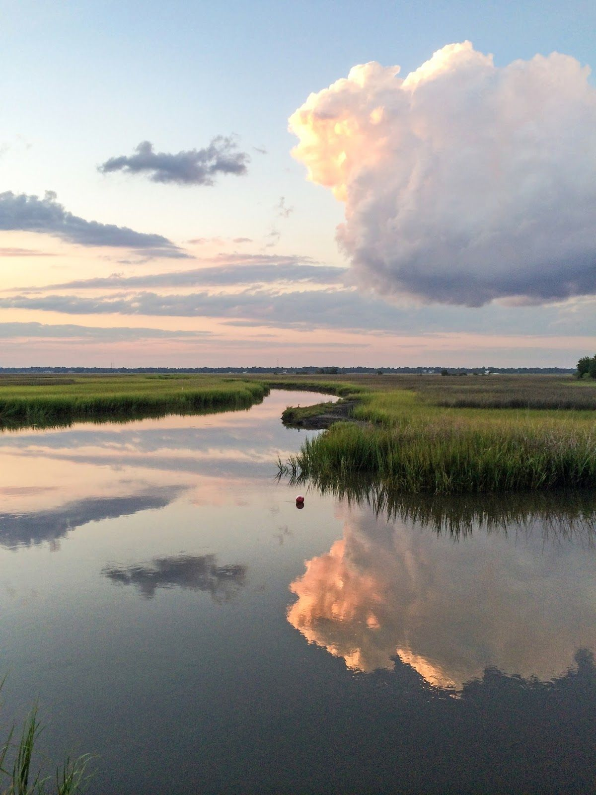 Charleston Charm Sunset Around The Stono Landscape