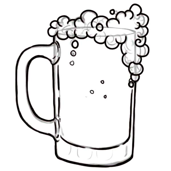 Drawing Glass Of Beer Coloring Pages Best Place To Color Coloring Pages Beer Drawings