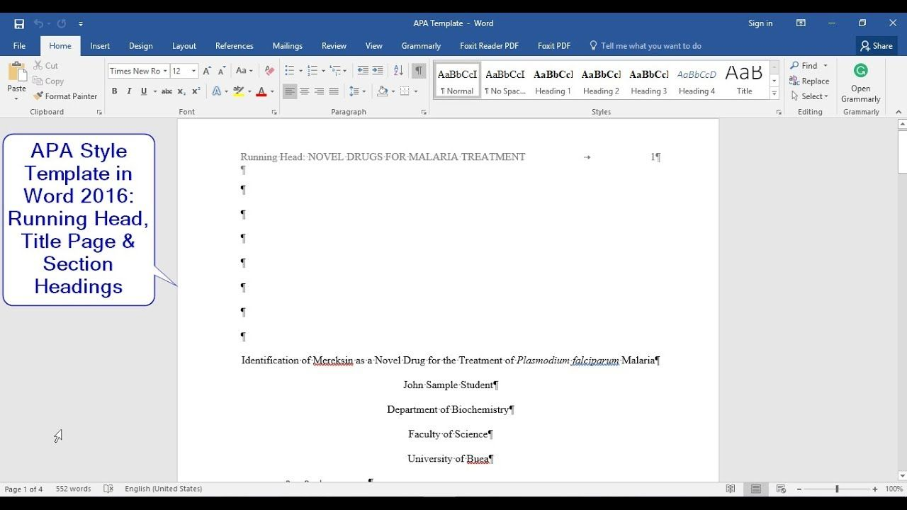 apa style  6th edition   how to make a template with