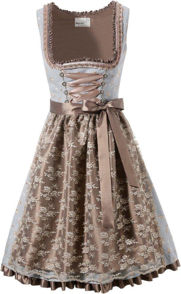 0a407ffa43fe1f Marjo Dirndl kurz mit seitlichem Zipp ab 129,99€. Mieder mit dekorativer  Schnürung