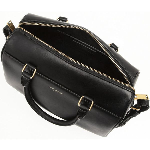 Saint LaurentClassic Duffle Mini Leather Bag (1,970 CAD) found on Polyvore featuring women's fashion, bags, handbags, tote bags, leather crossbody purses, leather handbags, mini crossbody purse, leather tote handbags and cross-body handbag