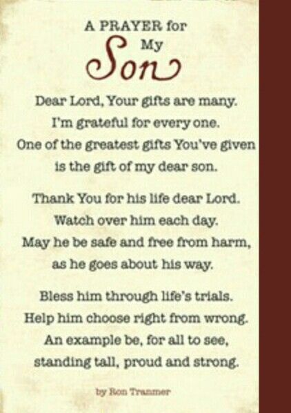 Prayer My son James , He is the sweetesr kindest man you ...