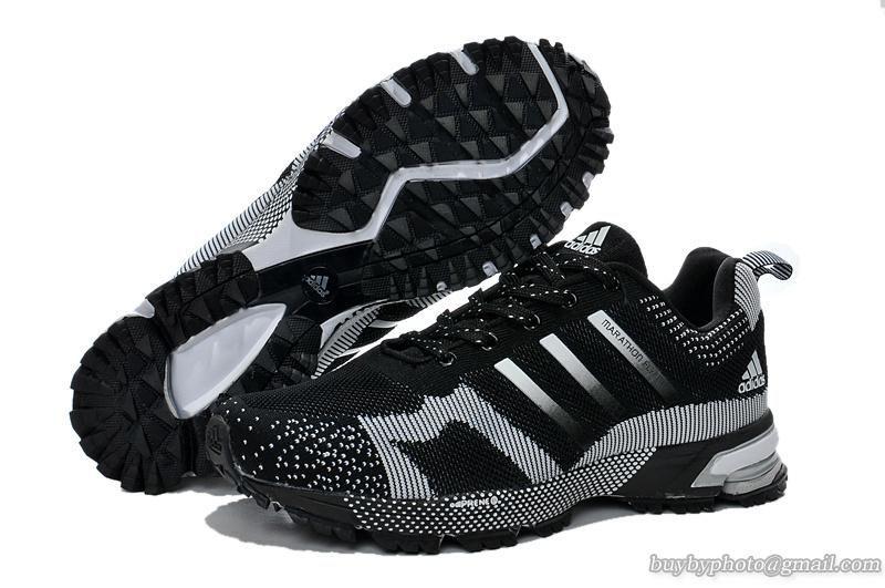Mens Adidas Marathon TR 13 Flyknit Running Shoes Sneaker Black White|only  US$89.00 -