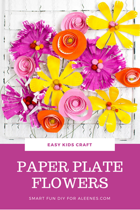 Diy A Bouquet Of Spring Flowers Kids Love This Paper Plate Craft