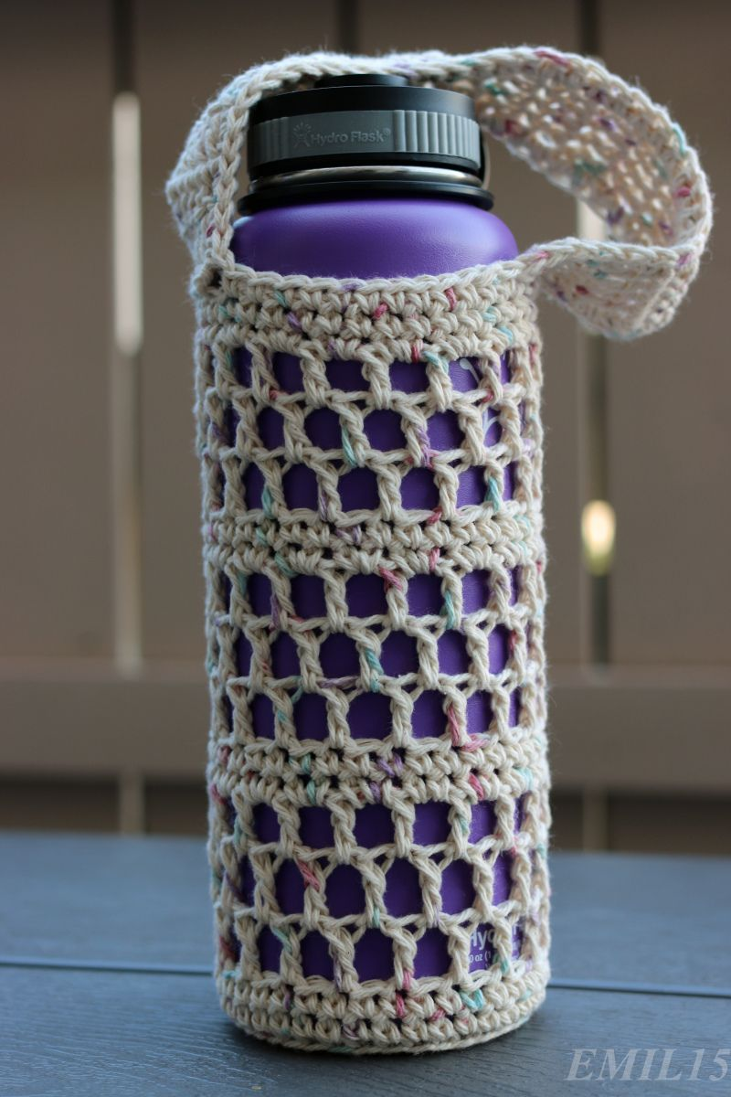 Something by vera handmade crafts and crochet hydroflask flask something by vera handmade crafts and crochet hydroflask flask water bottle holder sling bankloansurffo Choice Image