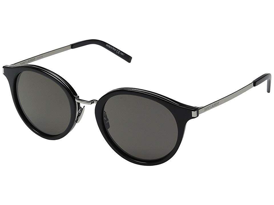 Saint Laurent SL 57 Fashion Sunglasses Black/Smoke Barberini Mineral Lens