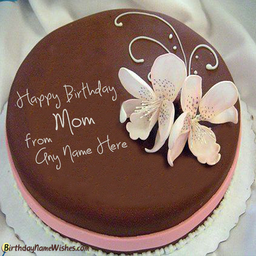 Online Birthday Cake Maker For Mother With Name Generator