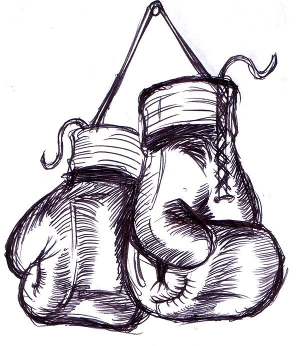 hanging Boxing Gloves - (not mine) Biro work, simple design which can be easily incorporated:)