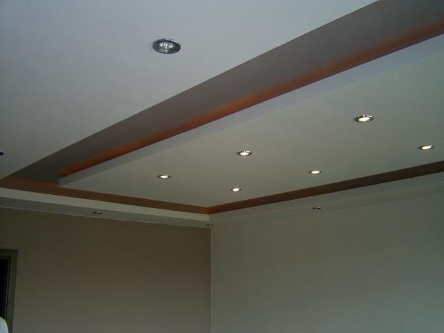 Fotos pladur y falso techo techo de dos niveles getafe - Iluminacion falso techo ...