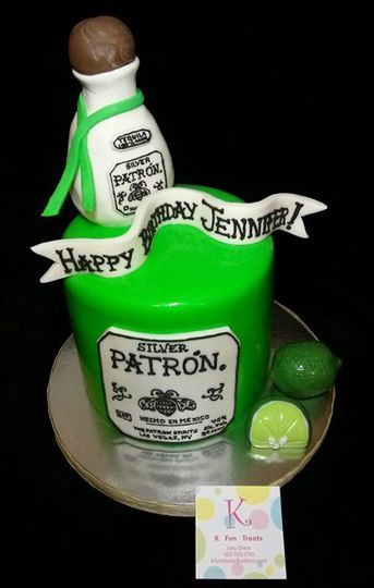 patron tequila birthday cake happy birthday jennifer