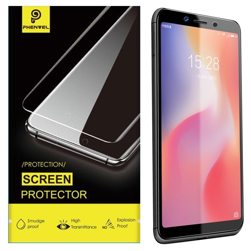 Phenvel Glossy Protective Glass For Xiaomi Redmi 6a Note 5a High Clear Tempered Glass For Xiaomi Redmi 6 S2 Screen Protector Screen Protector Smudging Tempered Glass Screen Protector