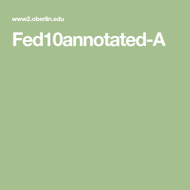 Fed10annotated A Teaching Government Teaching