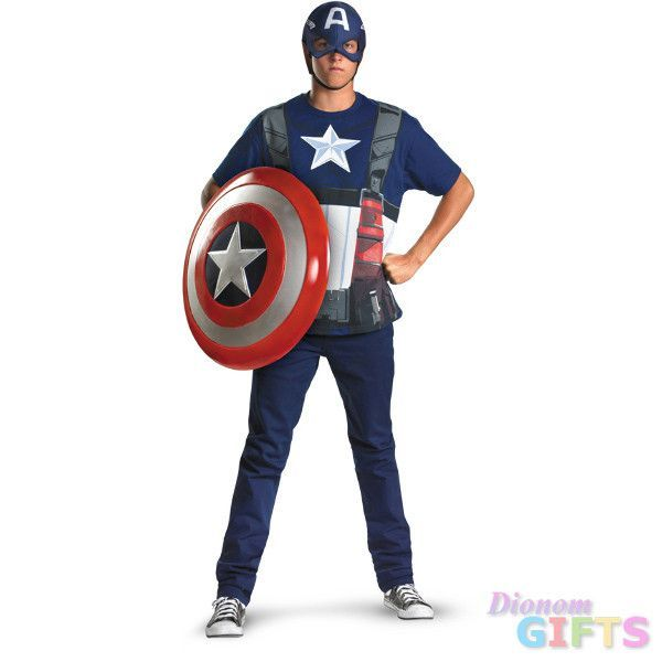 Men\u0027s Costume Captain America Movie Alternative-Plus Size All - mens homemade halloween costume ideas