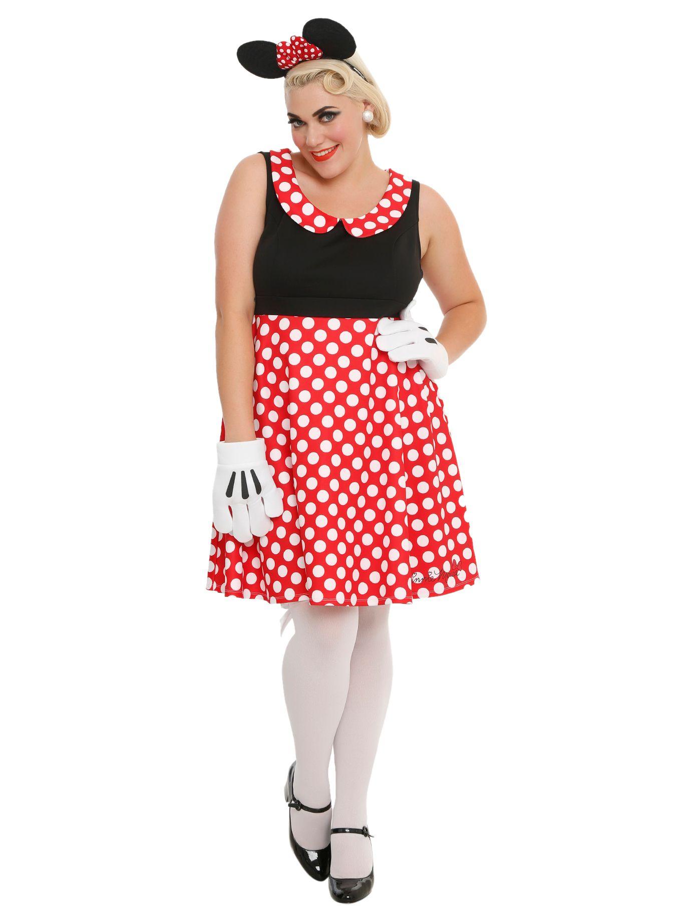 Disney Minnie Mouse Polka Dot Dress Plus Size | disney bounding ...