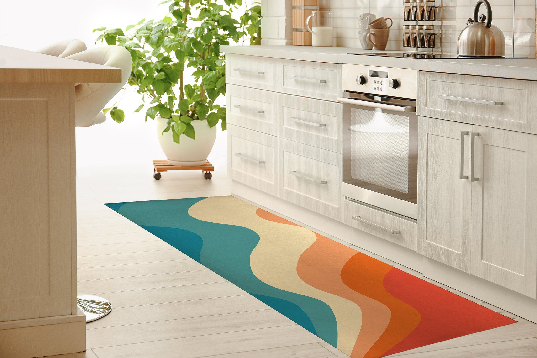 SNOOP SWIVEL Kitchen Mat By Terri Ellis – Runner 2.6ft x 8ft