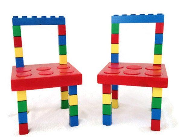 Etsy Find Of The Day   Wooden Lego Chairs