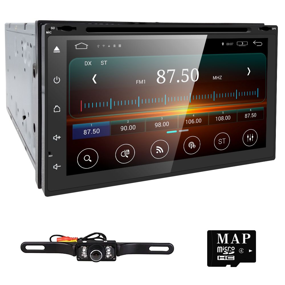 quad core autoradio 2 din android radio gps navigation car. Black Bedroom Furniture Sets. Home Design Ideas