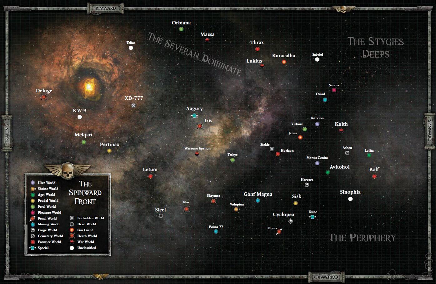 Pin by Robert Shea on 10K: Universe   Warhammer 40k rpg ... Koronus Expanse Map on
