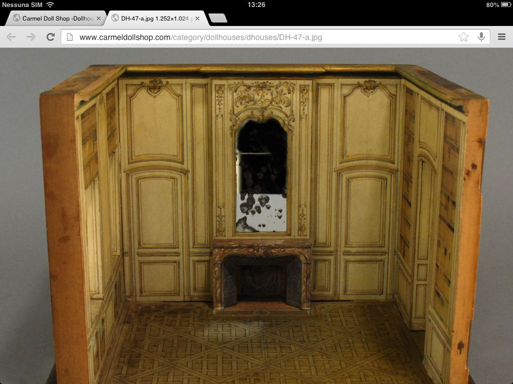 A French architect's room model of a salon or library For sale at 'carmel dollshop'
