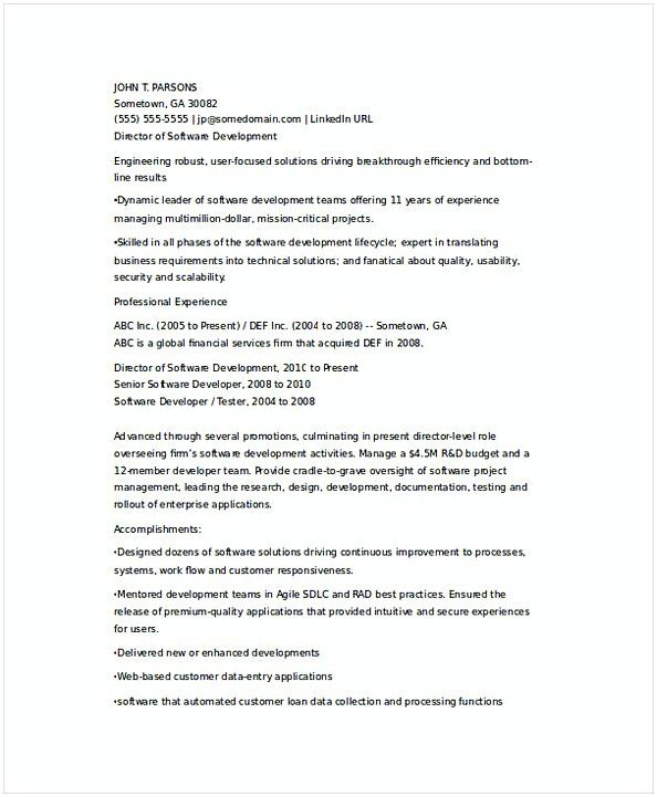 Senior IT Developer Resume , IT Operations Manager Resume , Do you - software developer resumes