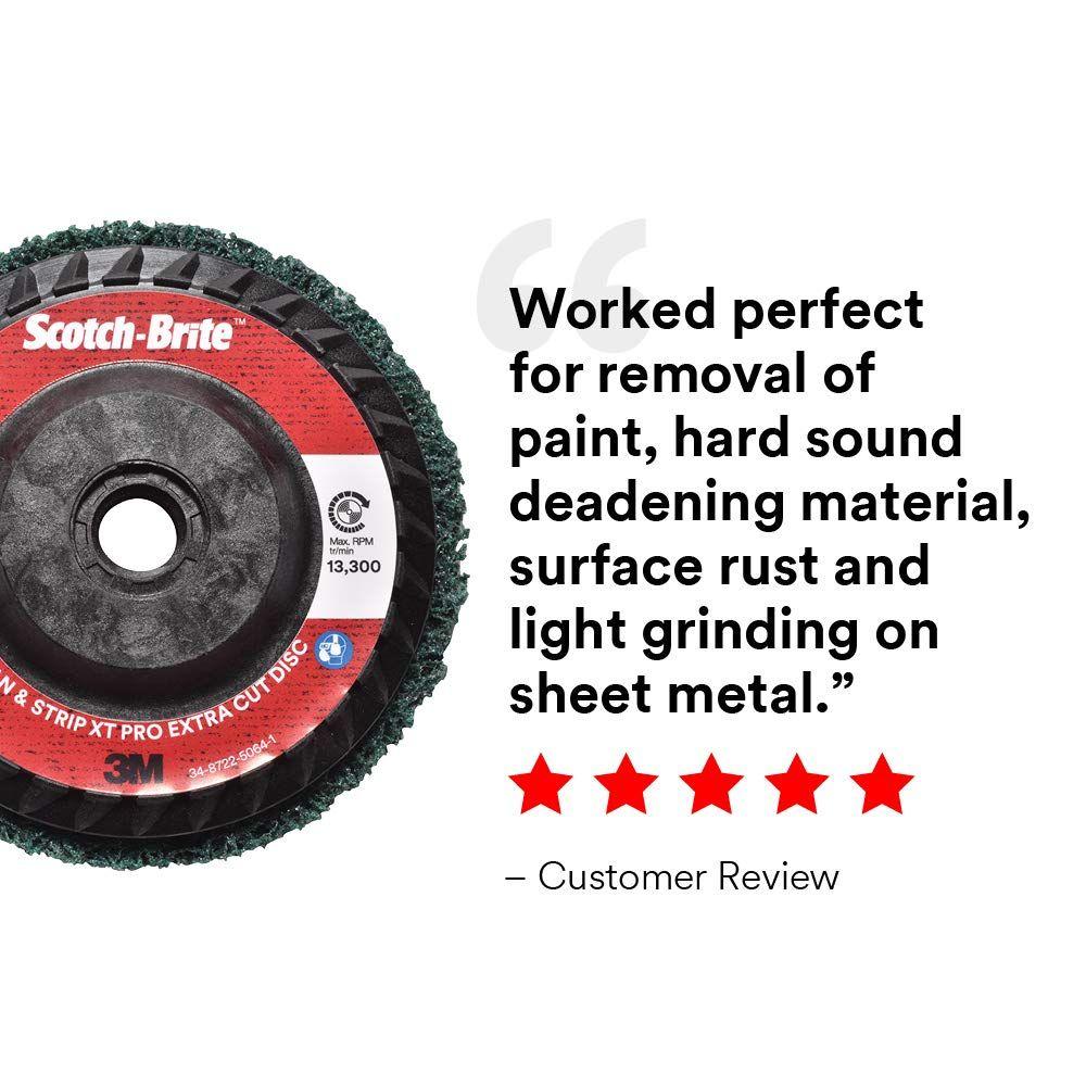 "Scotch-Brite Clean And Strip XT Pro Extra Cut Disc Heavy Rust Remover 4.5/"" Diam."