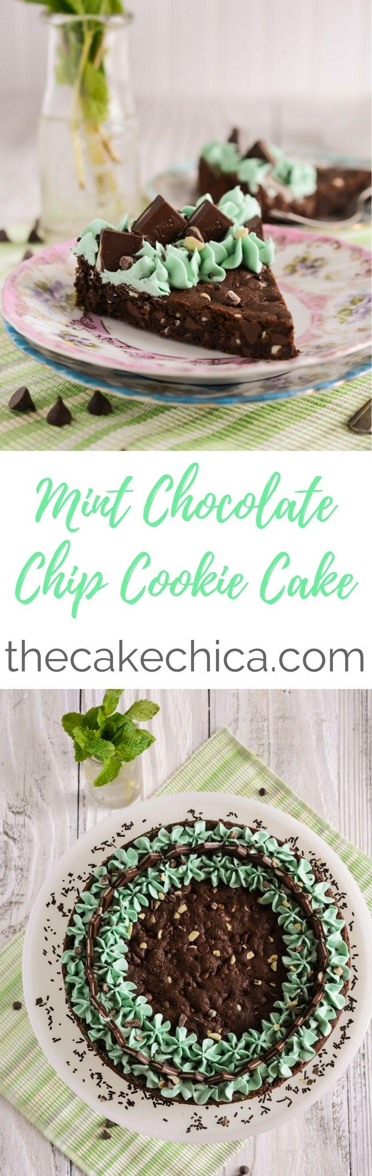 Mint chocolate chip cookie cake recipe mint chocolate