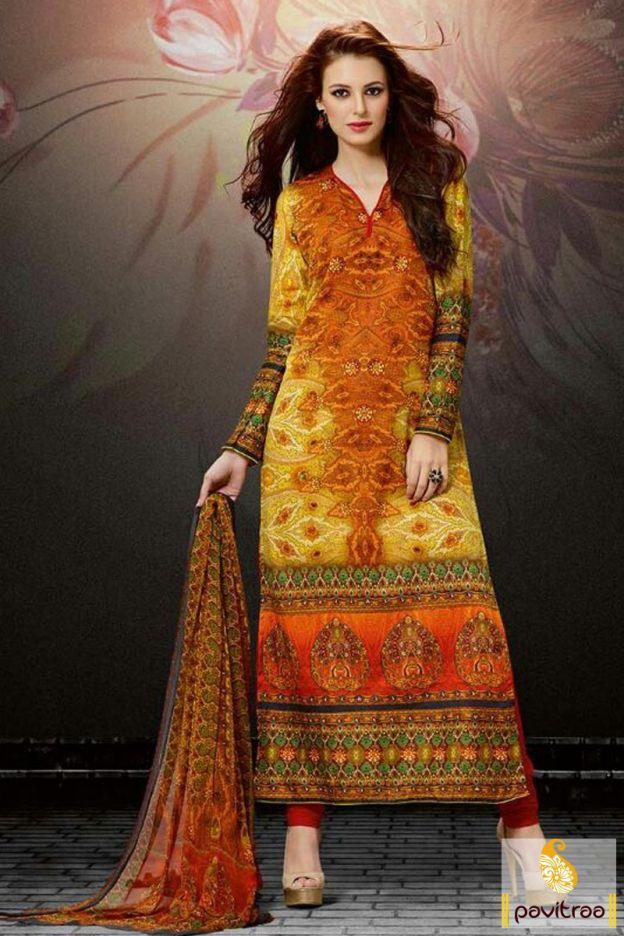 9317e51af5d Buy VandV Beautiful Digital Print Anarkali Suit Online