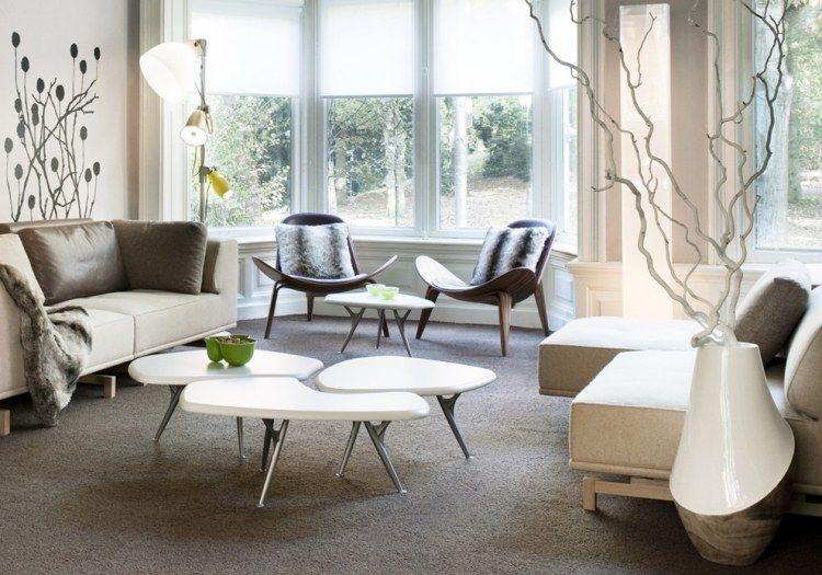 Teppichbodenbelag findet Platz im modernen Wonzimmer | Ideen rund ...