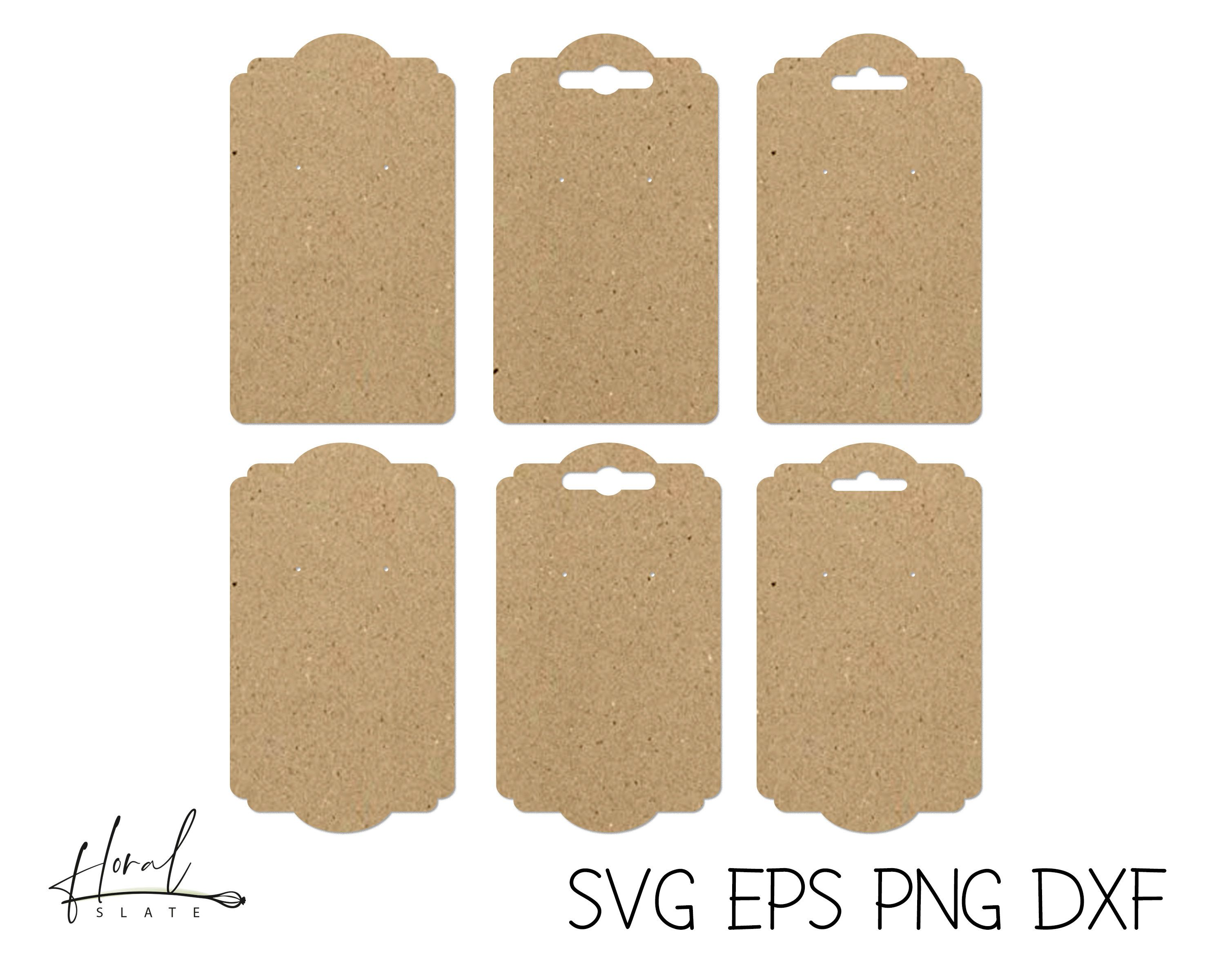 Earring card svg files for cricut earring display card