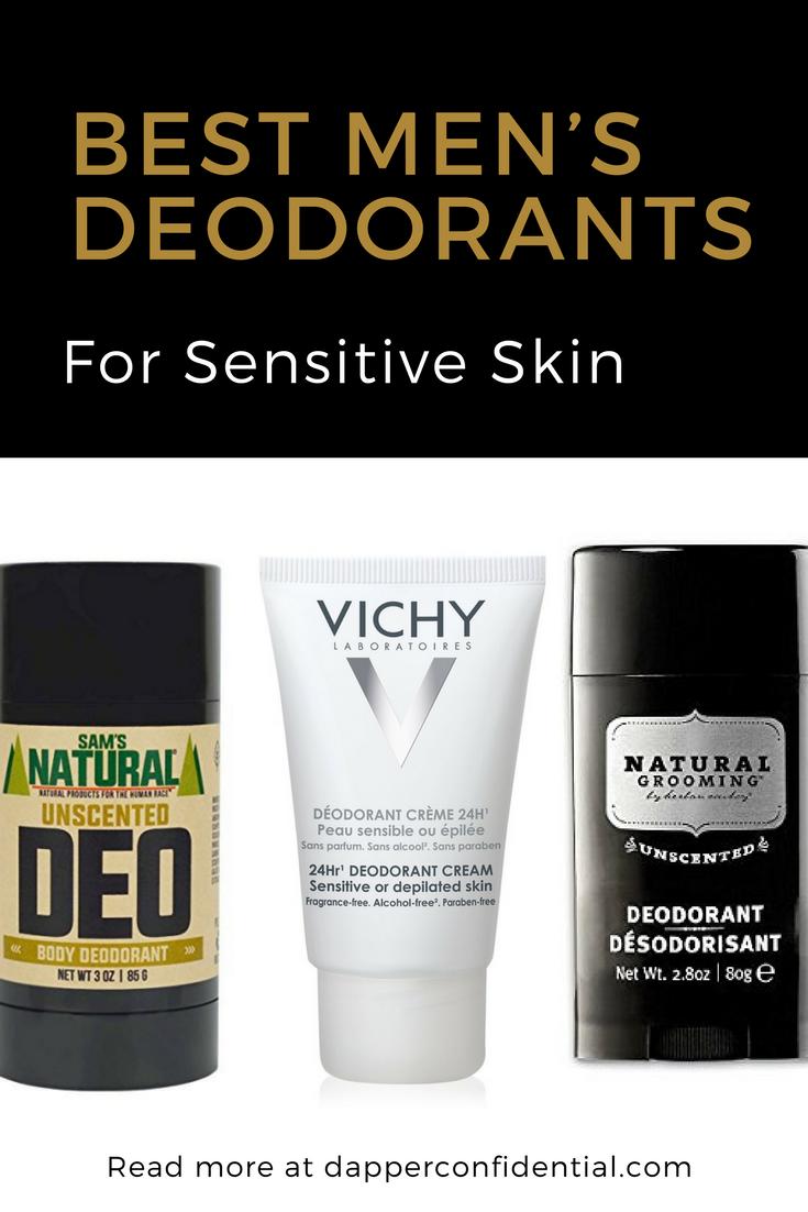 6 Best Men S Deodorants For Sensitive Skin Dapper Confidential Mens Deodorant Deodorant Sensitive Skin Deodorant