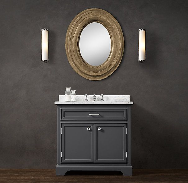 Explore Upstairs Bathrooms  Basement Bathroom  and more  RestorationHardware    Kent Single Vanity  RestorationHardware   Kent Single Vanity Sink in Charcoal with  . Kent Bathroom Vanity Restoration Hardware. Home Design Ideas