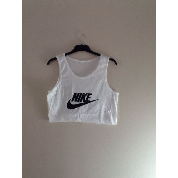 c88aea0264d2 Unisex Customised Nike Crop Top Vest Top Tshirt One Size Festival Swag  ( 19) ❤ liked on Polyvore featuring tops