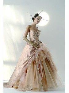 vestido de noiva beje 2015