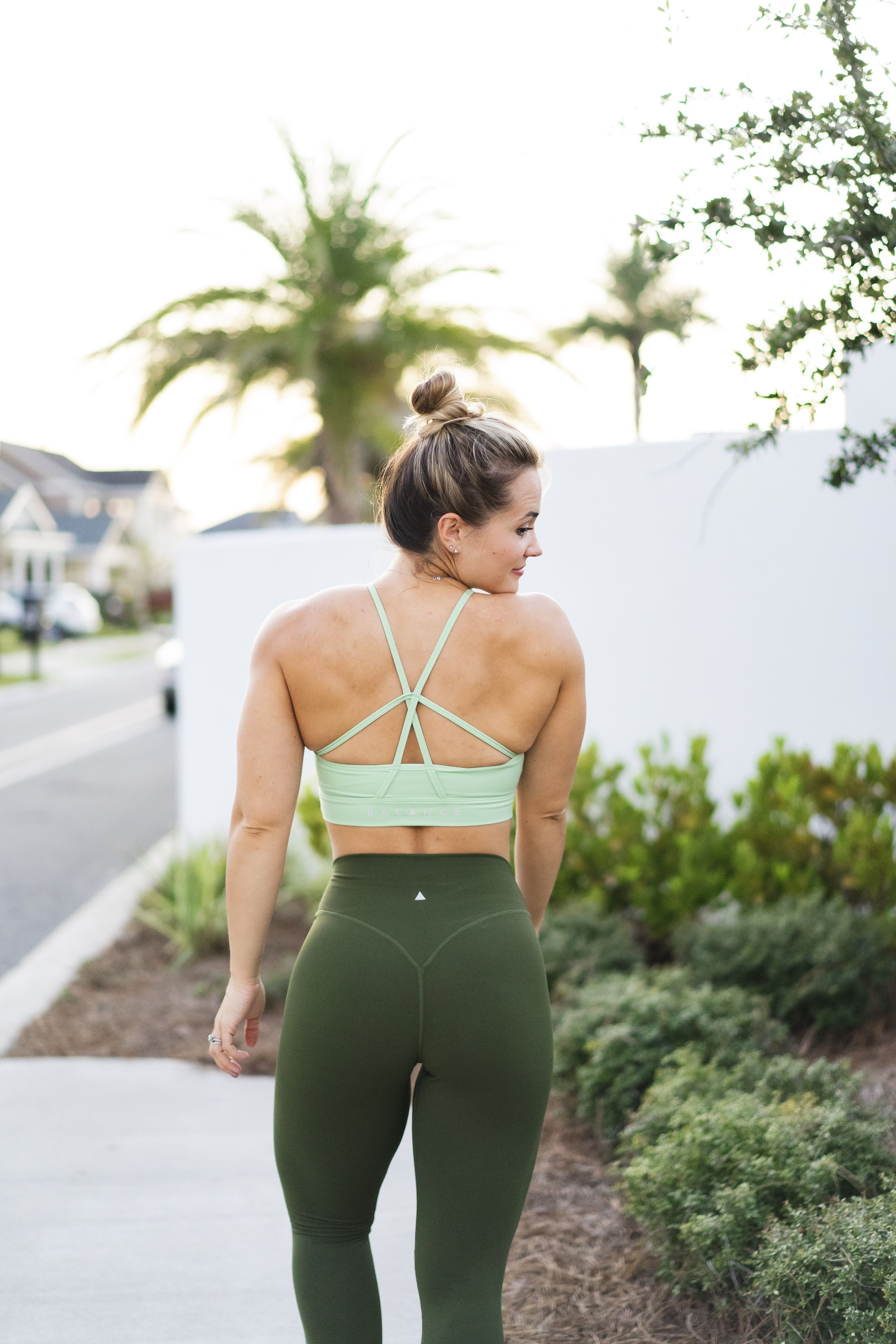 The Form Bra Vine X The Ascend Pant Moss Athleisure Women Athletic Outfits Athleisure Fashion