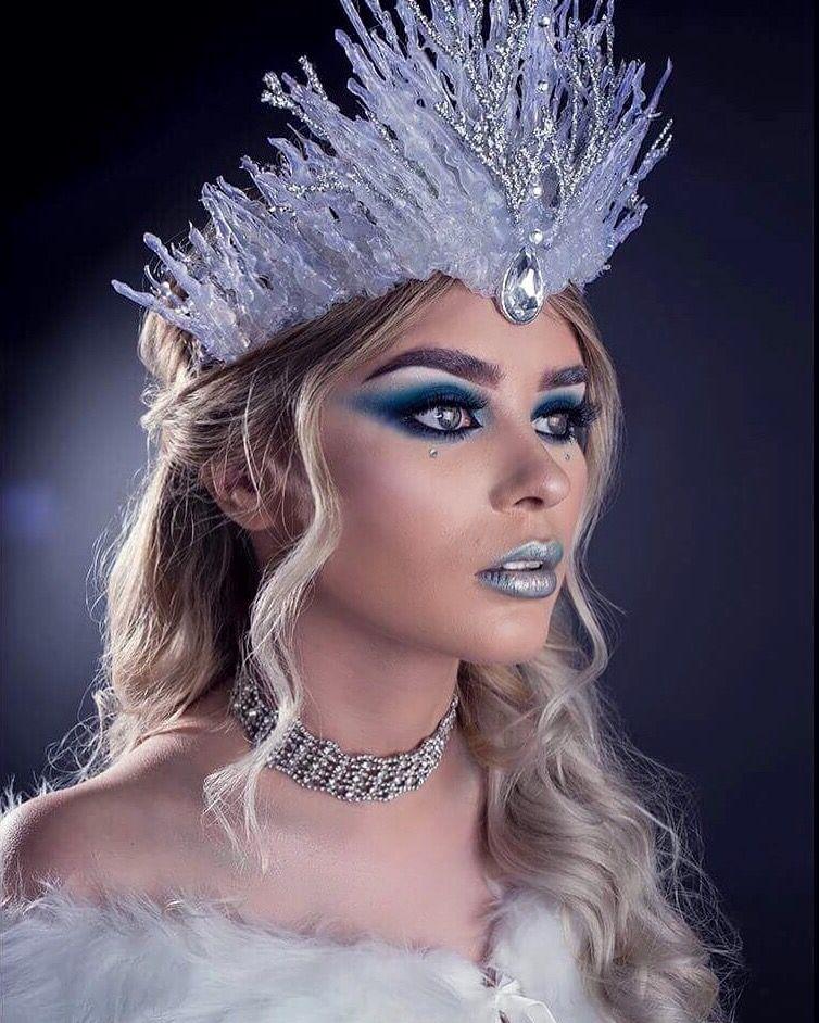 Ice Snow Queen Crown Costume Makeup Look Inspiration By Jadelaurenharrison And Christophernewtonphotogra Snow Queen Makeup Ice Queen Makeup Ice Queen Costume