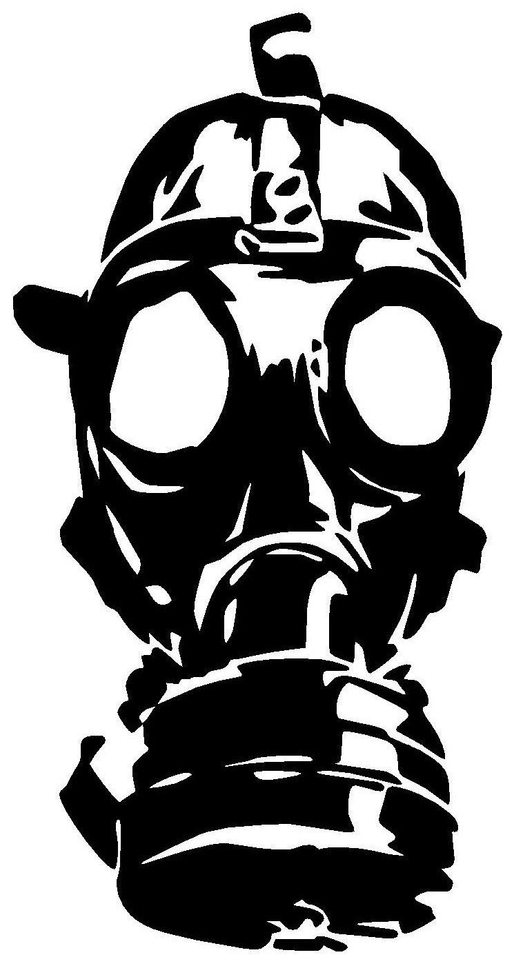 3 59 Gas Mask Vinyl Decal Sticker Window Wall Car Bumper Laptop Zombie Walking Dead Ebay Home Garden Gas Mask Drawing Gas Mask Art Gas Mask Tattoo