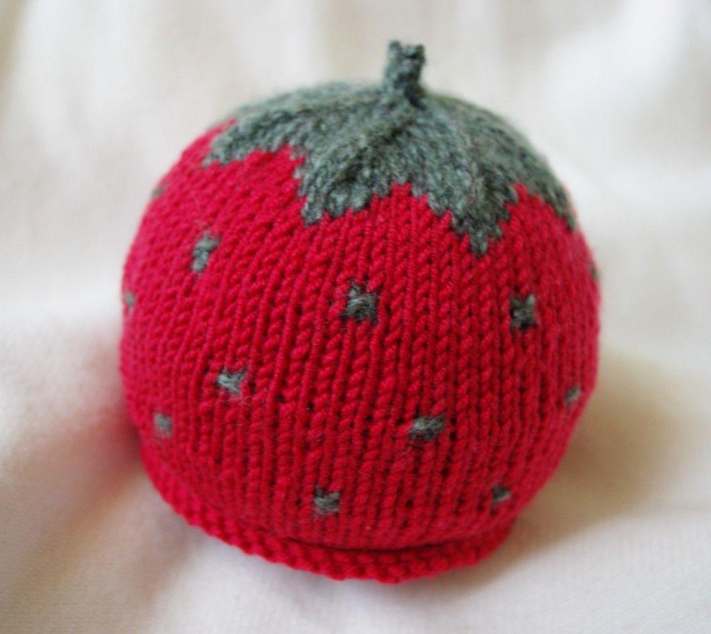 9566e13a68f Patron tricot bonnet bebe fraise - Modèle de tricot gratuit