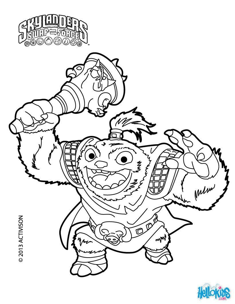 Zoo Lou Coloring Page From Skylanders Swap Force Coloring Page More Skylanders Coloring Sheets On Hellokids Star Coloring Pages Coloring Pages Coloring Books
