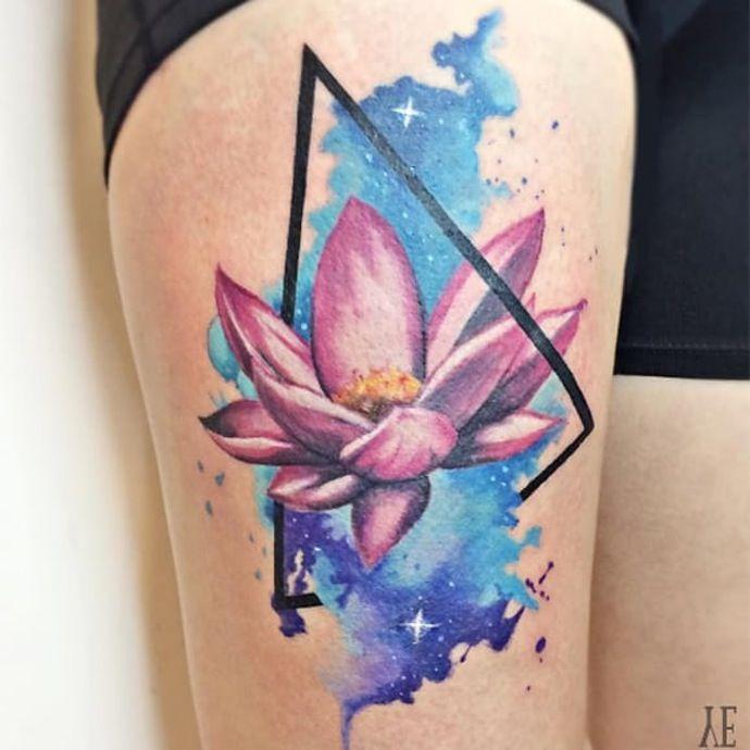 Flower Watercolor Tattoo Tattoos Watercolor Tattoo Lotus Flower