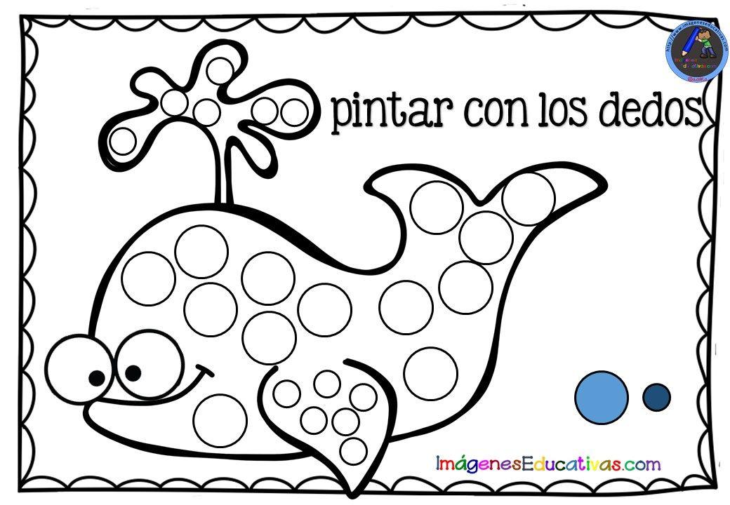 Fichas Para Pintar Con Los Dedos 1 Actividades De Arte Para Preescolares Fichas Imprimibles Para Preescolar
