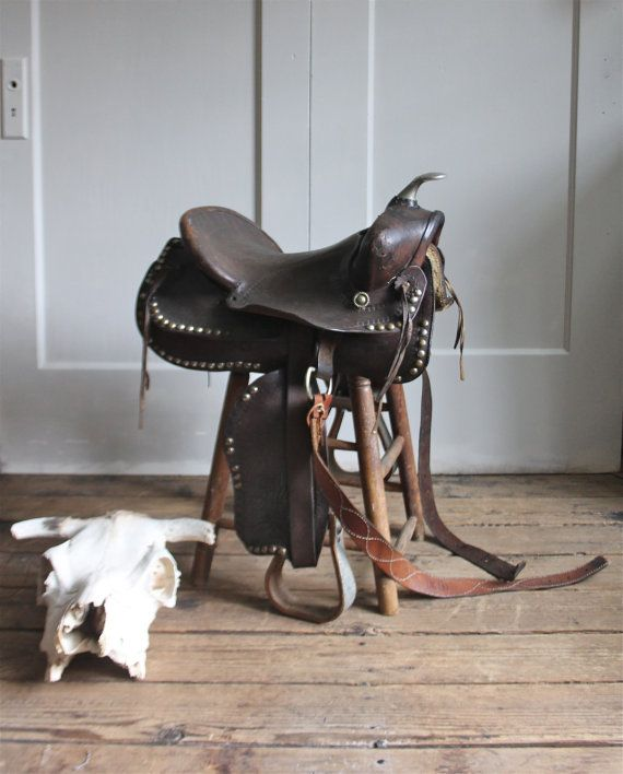 This gorgeous saddle reminds me of my childhood.