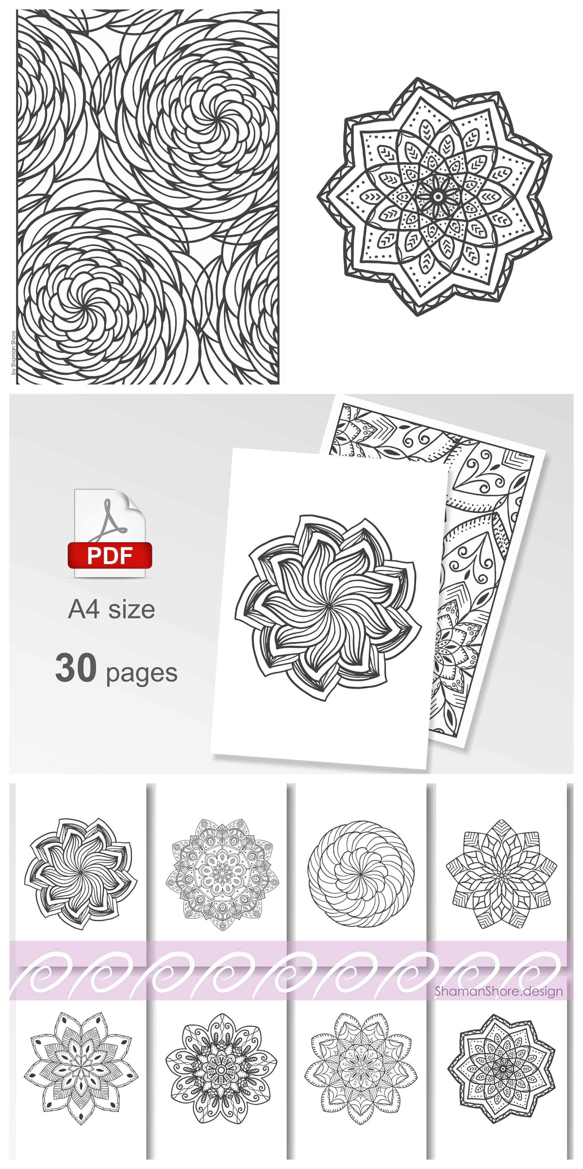 Detailed COLORING Pages For Grown Ups