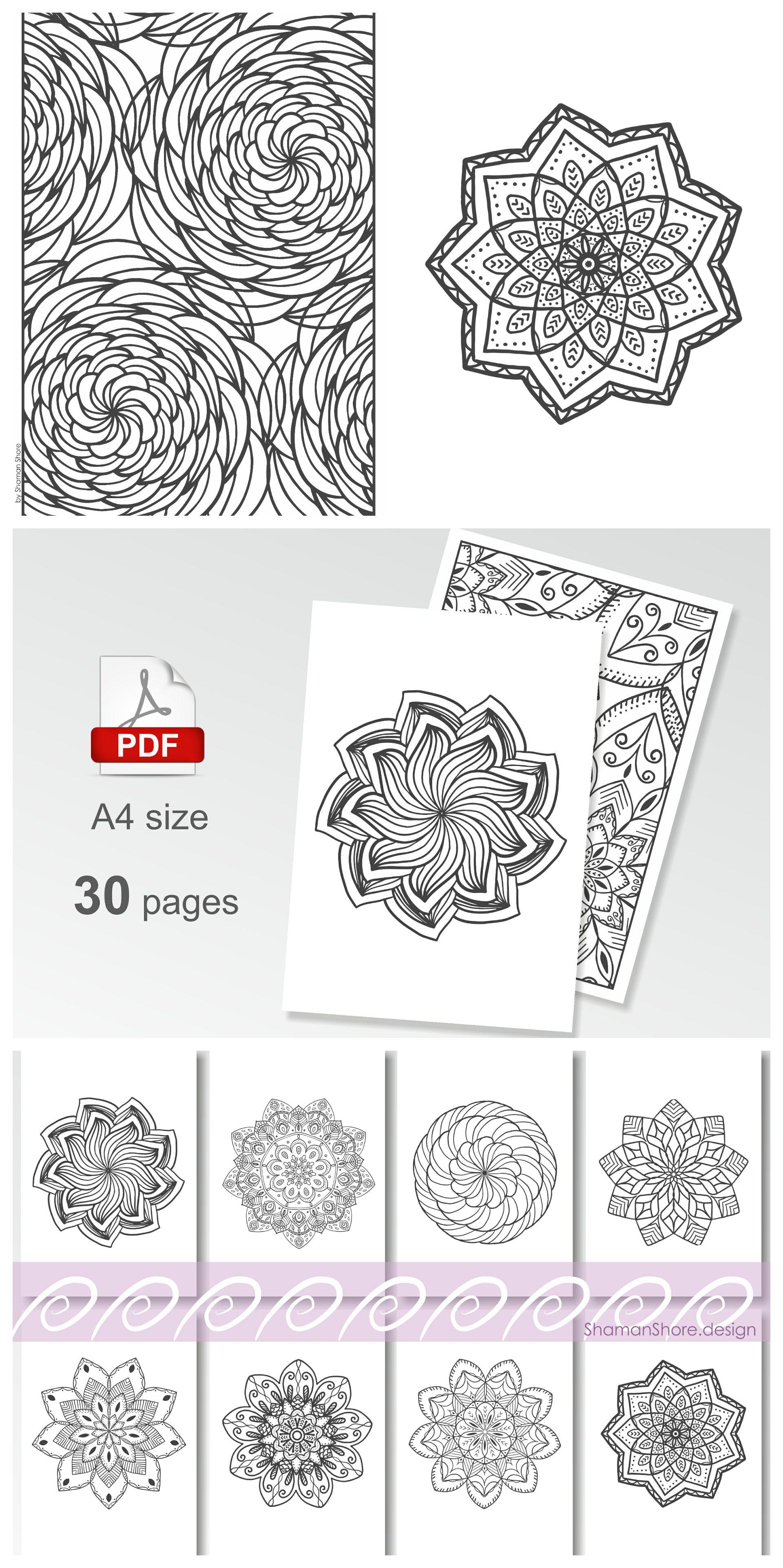- Adult Digital Coloring Book Pdf, Mandala Coloring Books, Pdf