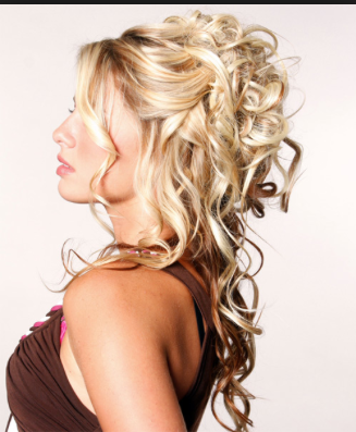 Love How This Is Halfway An Updo But Also Down And Curly In