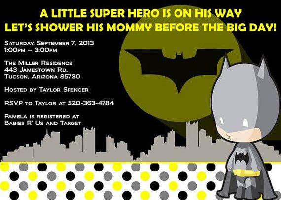 Baby Shower Ideas For Batman Theme Go Back Pix Invitations