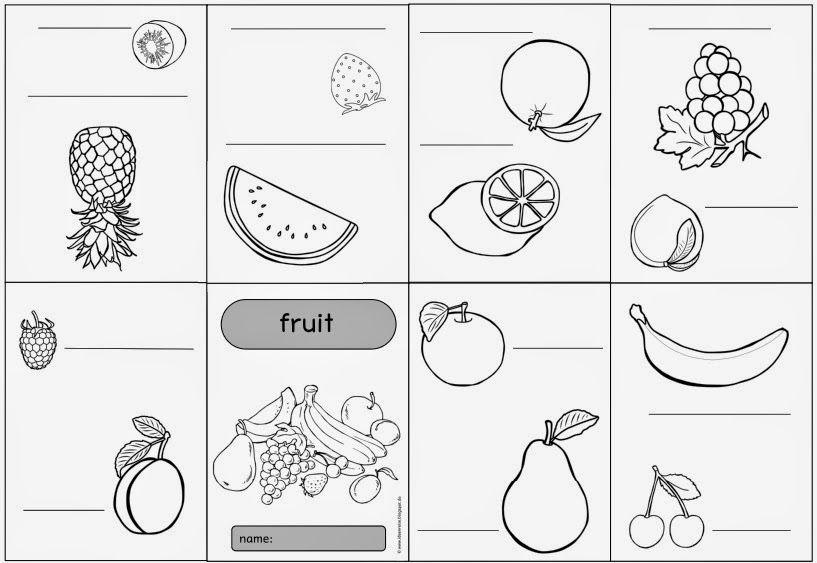 """Falthefte zum Englischthema """"fruit"""""""