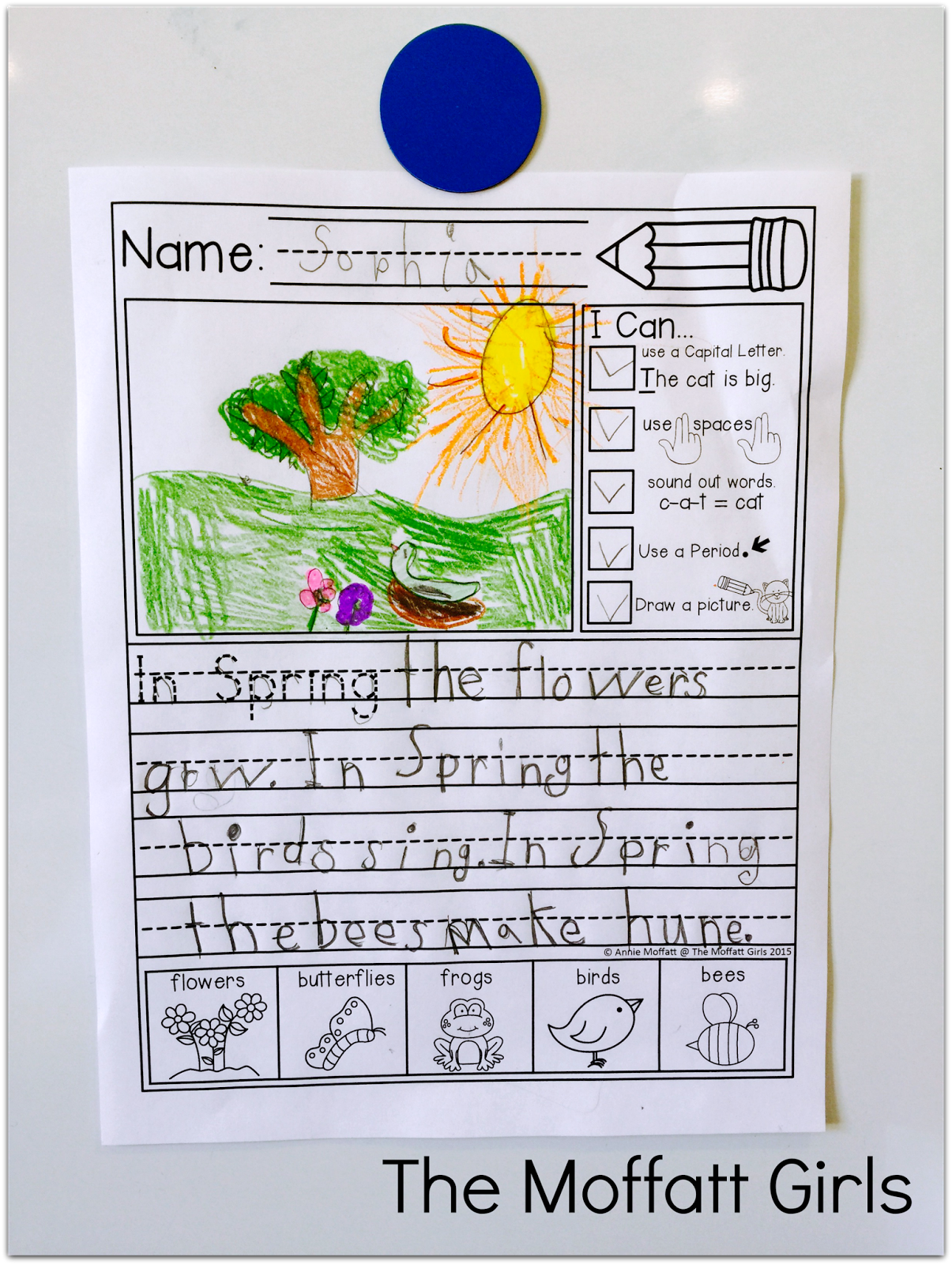 Kindergarten And 1st Grade Writing Journal Prompts With I