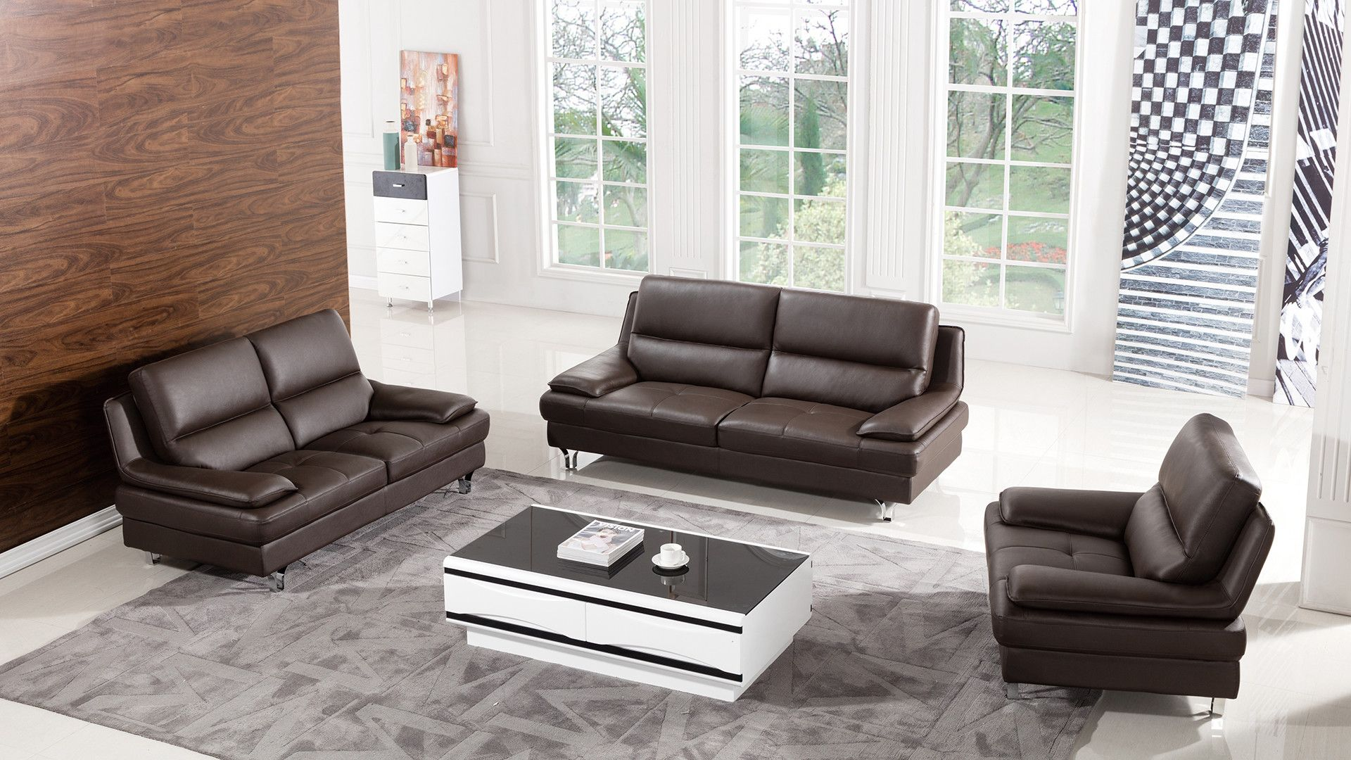 Harrison 3 Piece Leather Living Room Set