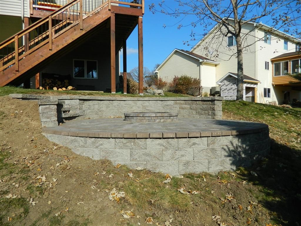 Fire Pit On A Slope But Use Pea Gravel Instead Of Brick | Yard/Garden |  Pinterest | Pea Gravel, Bricks And Backyard