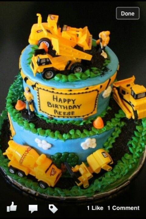 Tonka Cake With Images Truck Birthday Cakes Boy Birthday Cake